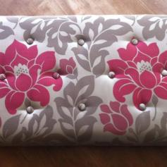 Commissioned buttoned ottoman top