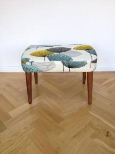 Sanderson fabric footstool